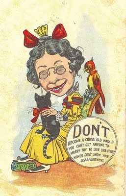 by Douglas Postcard and Machine Co. Posted 1908 VINTAGE Old Maid Postcard OLD MAID Postcard