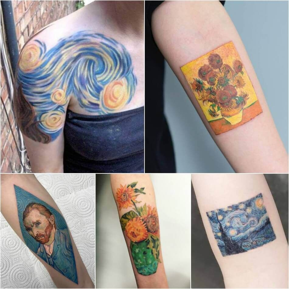 Painting Tattoo Ideas Tattoos For Art Lovers Inspired By Paintings And Works Of Art Van Gogh Pintura