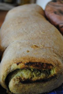 Whole-Wheat Pesto Roll Bread