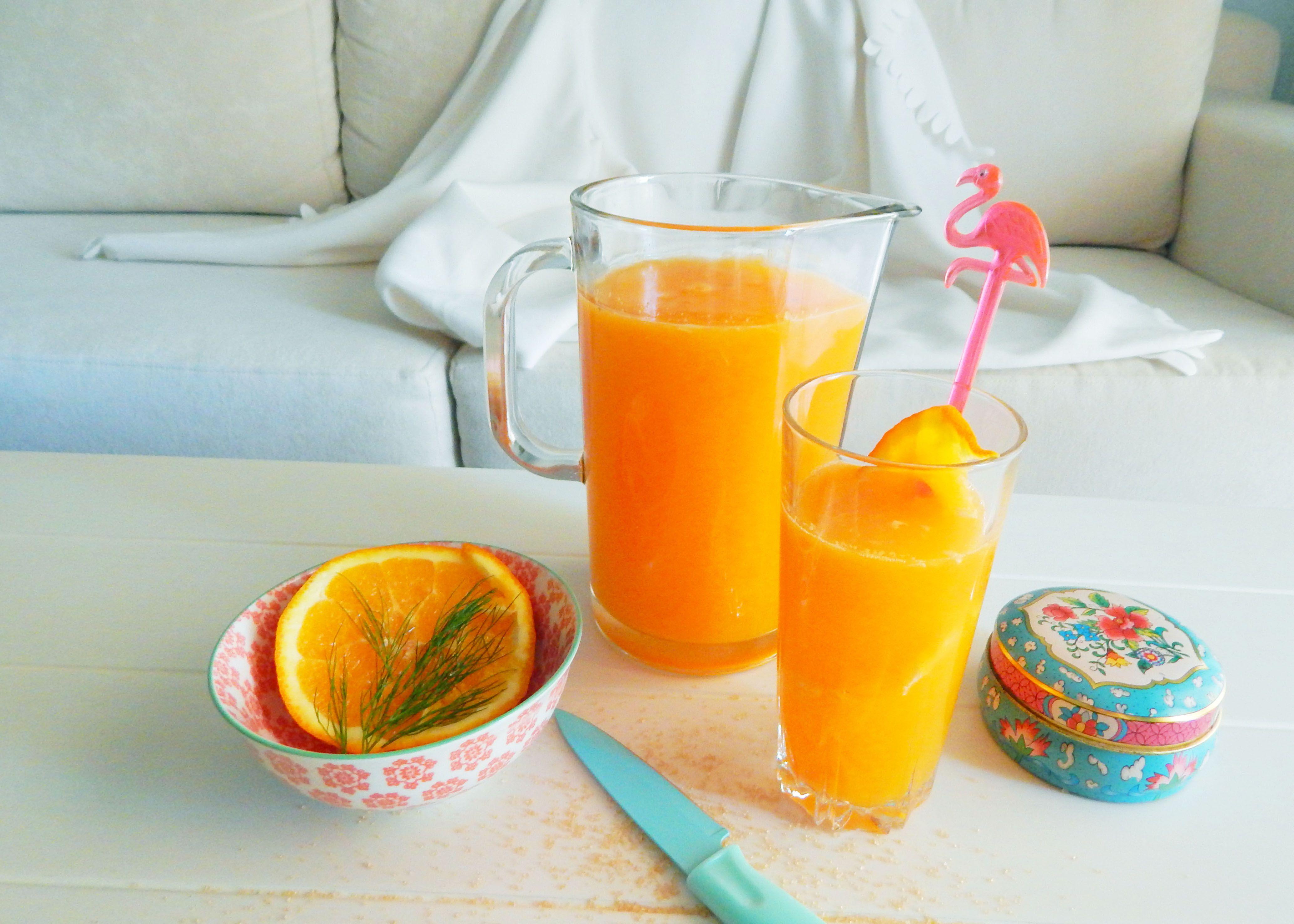 Fresh orange juice with brown sugar and honey!