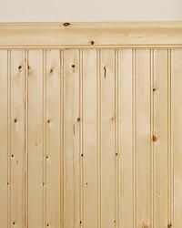 Mill Services Premium Double Bead Knotty Pine Wainscot Wall Planking