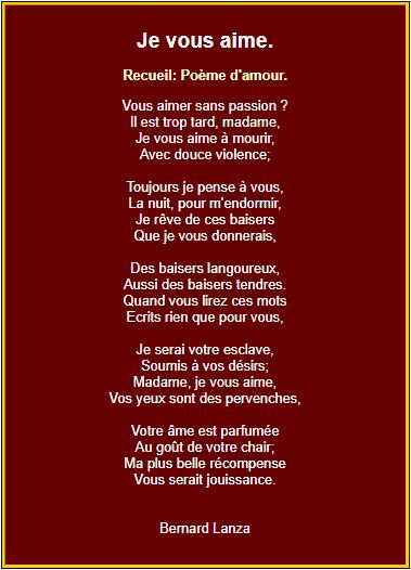 Poèmes Damour En Images Poeme Romantique Texte