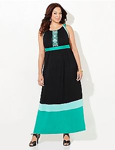Tribal Colorblock Maxi Dress Spring Summer Outfits