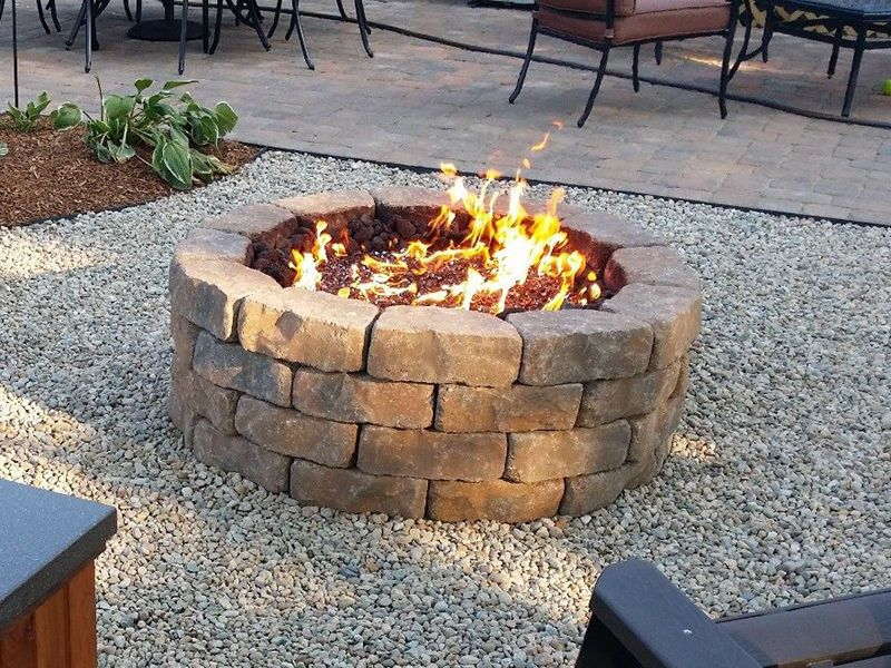 How to Build a Propane Fire Pit - How-to-Build-a-Propane-Fire-Pit- Desks Fire Pit Backyard, Diy