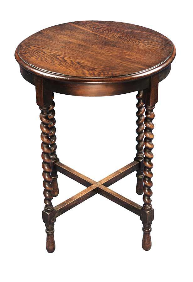 Oak Side Table: Antique English Oak Side Table