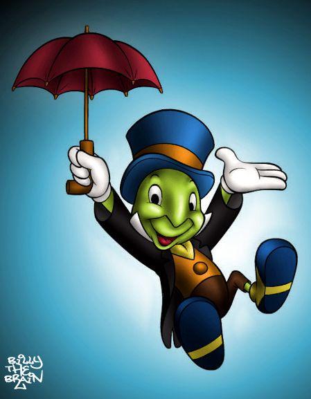Jiminy Cricket Colour By Billythebrain On Deviantart Disney Art Jiminy Cricket Disney Cartoon Characters