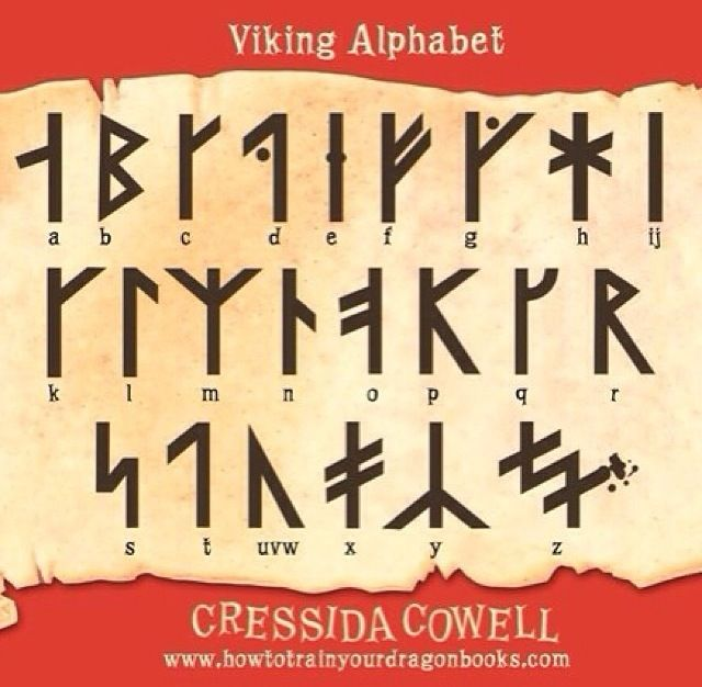 How to train your dragon viking alphabet!! I'VE memorised it