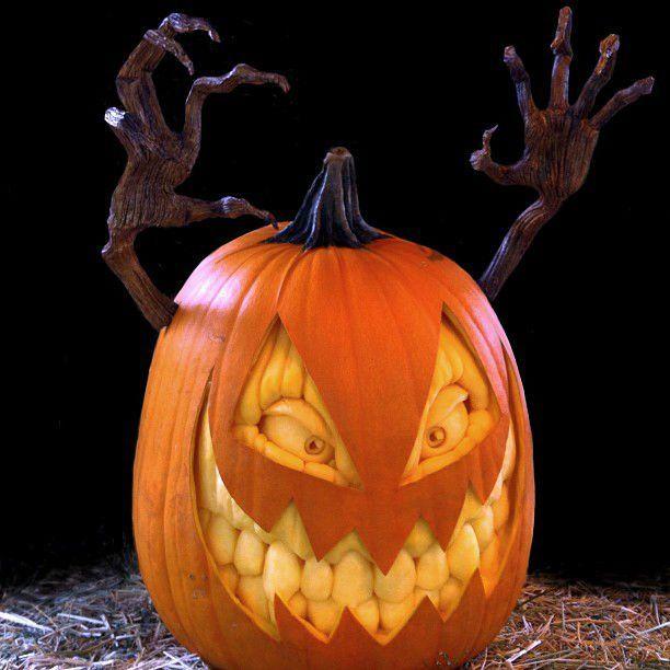 Ray Villafane Creates Insanely Realistic Pumpkin Sculptures Pumpkin Carving Scary Pumpkin Carving Realistic Pumpkins
