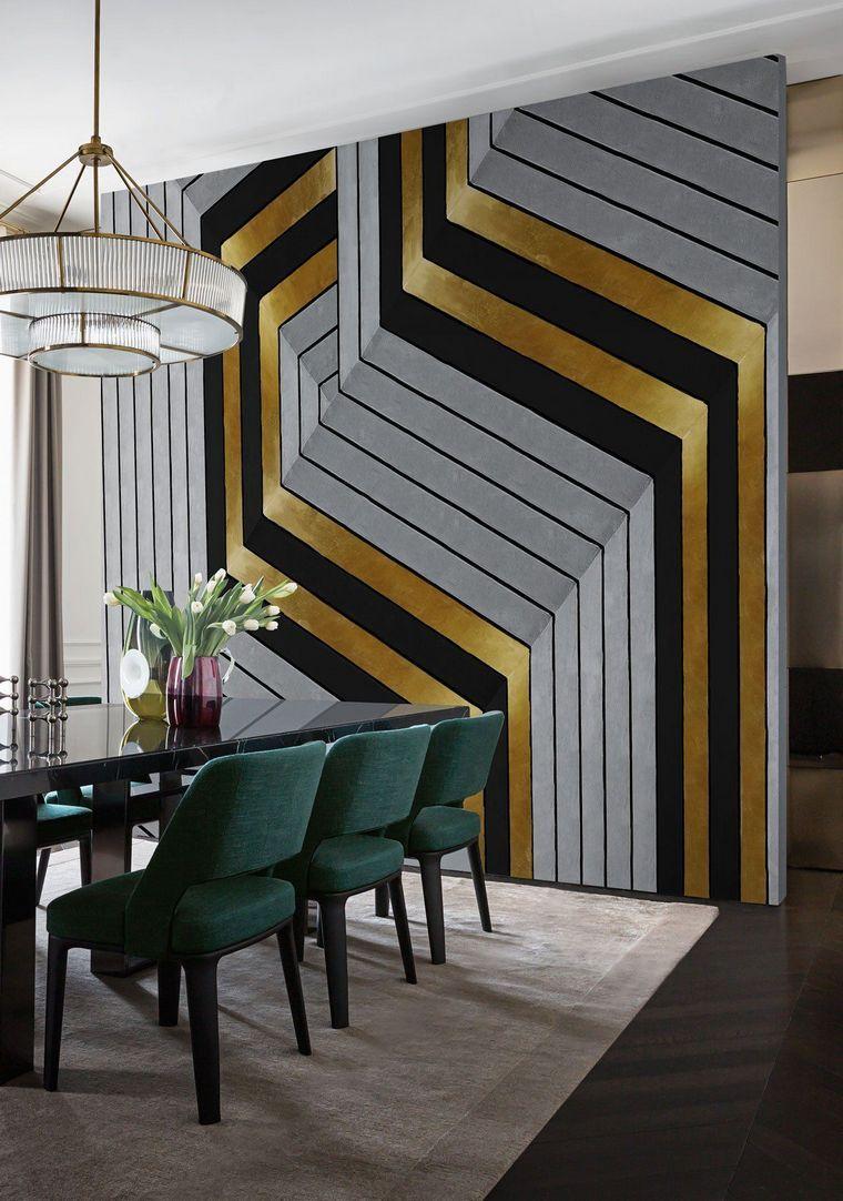 Comment Separer Une Piece De Facon Elegante Discrete Et Intelligente Design De Mur Peinture Mur Maison Decoration Interieure Moderne