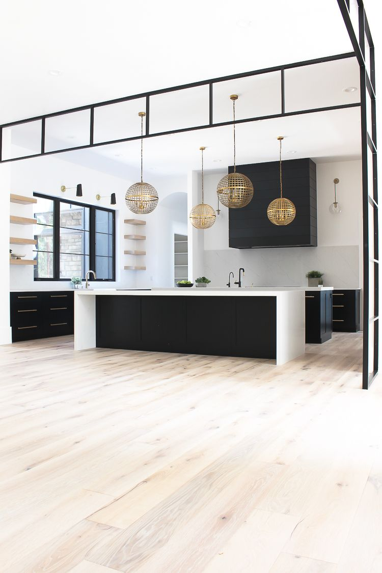 Wohnzimmerwandnische our new modern kitchen the big reveal  küche  pinterest  cocinas