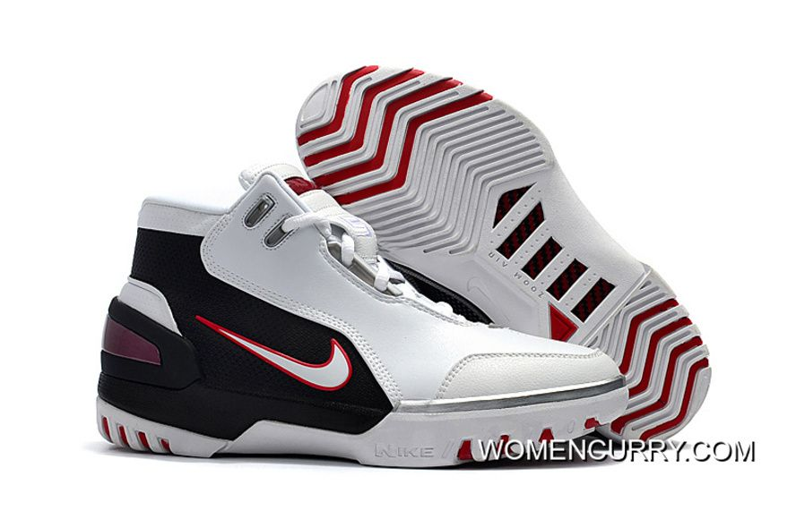 Nike Air Zoom Generation Lebron 1 White Black And Red Super Deals ... 9967d30d1