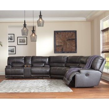 Get Your Mccaskill Gray 3 Pc Reclining Sectional At Furniture Factory Outlet Warsaw In