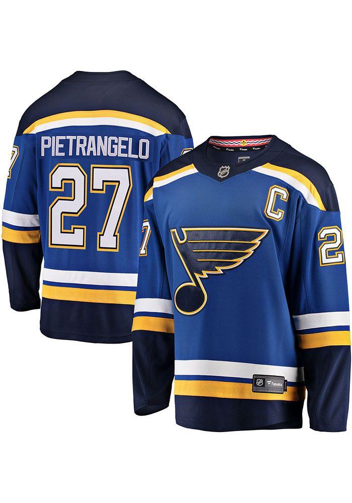 94a33bec9a9 Alex Pietrangelo St Louis Blues Mens Blue Breakaway Hockey Jersey ...