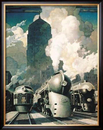 New York Central System Prints Vintage Train Art