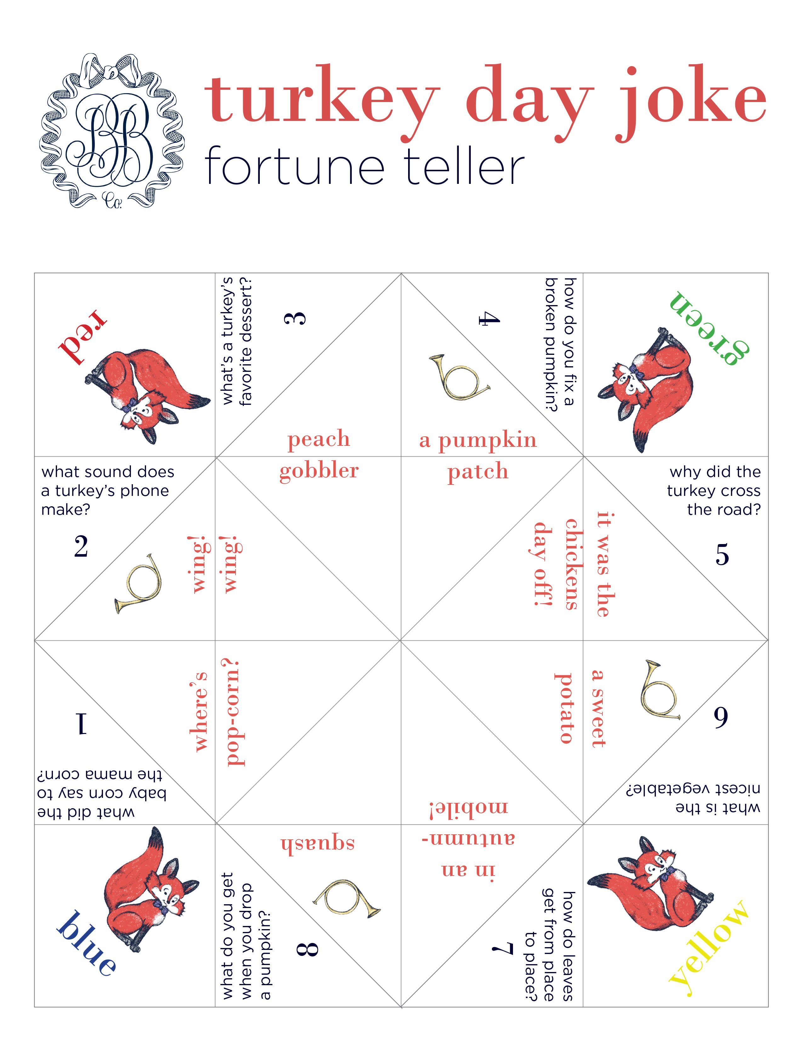 Tbbc Fortune Teller Jokes For Turkey Day