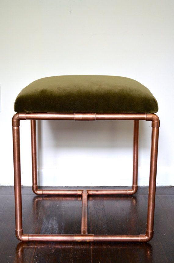 Kupfer Möbel gepolsterte kupfer bencholivevelvet blumintshop auf etsy