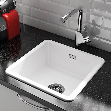 Small Ceramic Kitchen Sinks Clearwater metro small single bowl ceramic kitchen sink white clearwater metro small single bowl ceramic kitchen sink white ceramic kitchen sinks sinks and john lewis workwithnaturefo