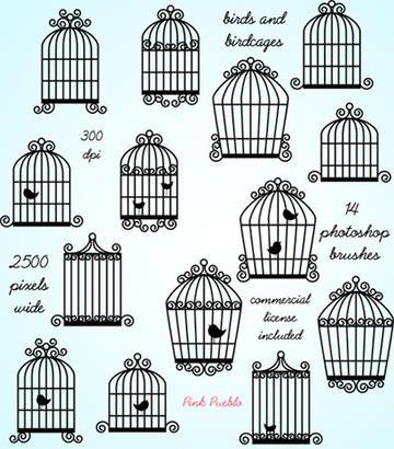 Bird Cage Photoshop Brushes Bird Cage Clip Art Art Clipart