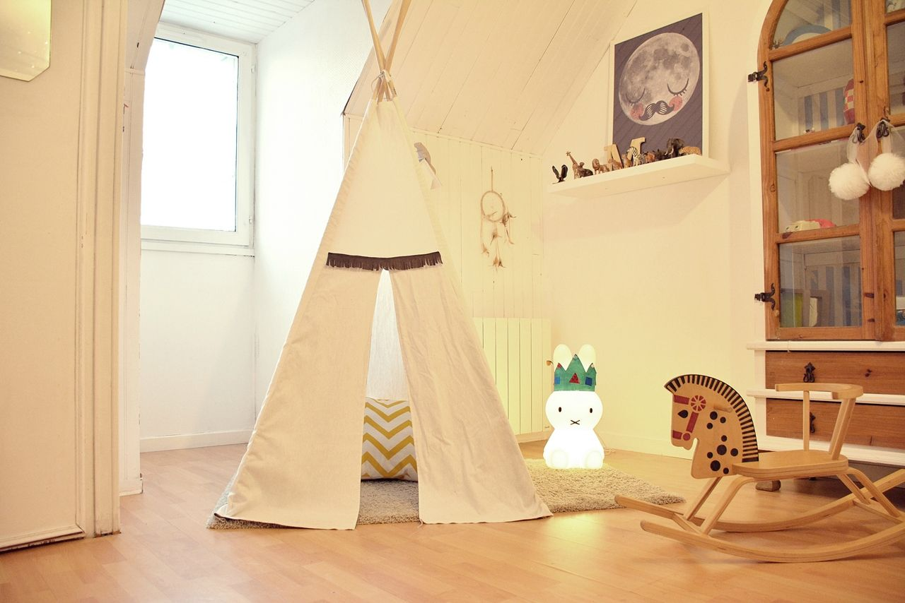 tuto fabriquer soi m me un tipi jolis biais chambre enfant fabriquer un tipi tipi. Black Bedroom Furniture Sets. Home Design Ideas