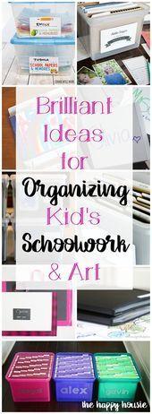 How to Organize Children's School Work | The Happy Housie,  #Childrens #Happy #Housie #Organi... ,  #Childrens #Happy #Housie #officeorganizationatworktimemanagement #Organi #Organize #School #Work