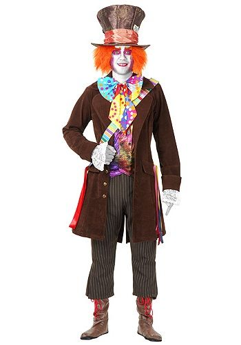 this deluxe plus size mad hatter costume is straight from. Black Bedroom Furniture Sets. Home Design Ideas