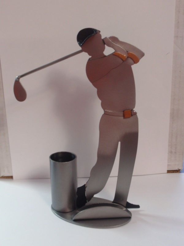 Sculpture: #FreeShipping H & K Sculpture Golf Business Card Holder ...
