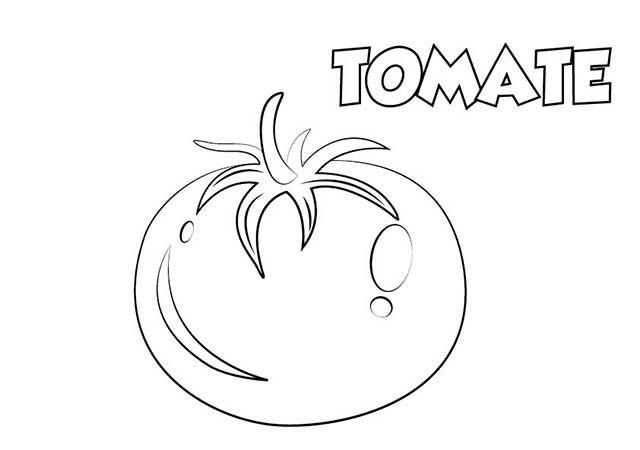 dibujo colorear tomate | Dibujos de alimentos para colorear ...