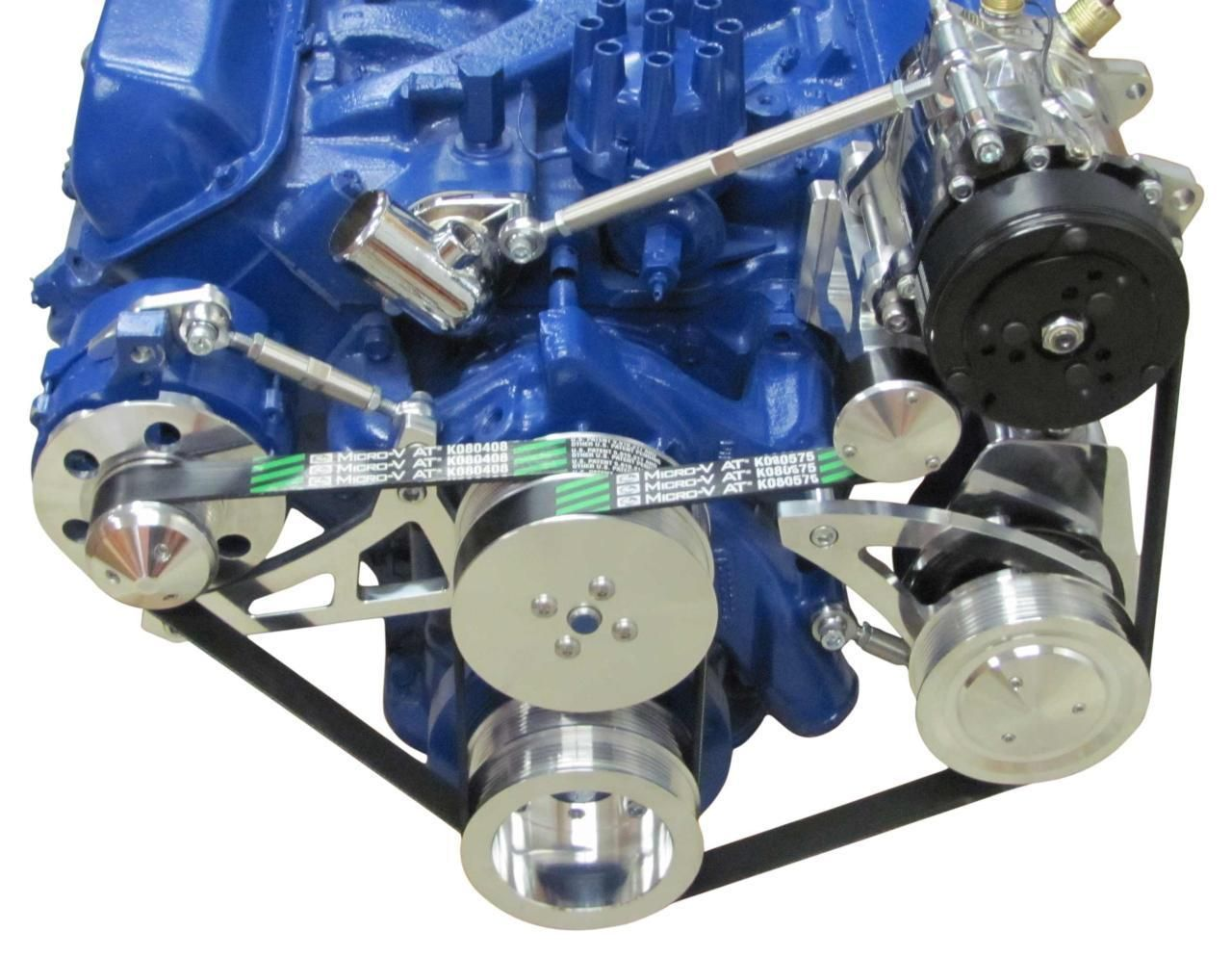 Ford 390 fe edelbrock fuel injection conversion aluminum serpentine conversion kit ford fe engine