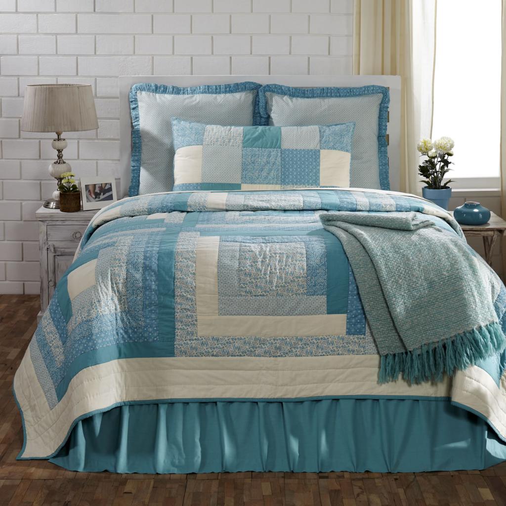 Sea Glass King Quilt 95x105 King Quilt Bedding Quilt Bedding