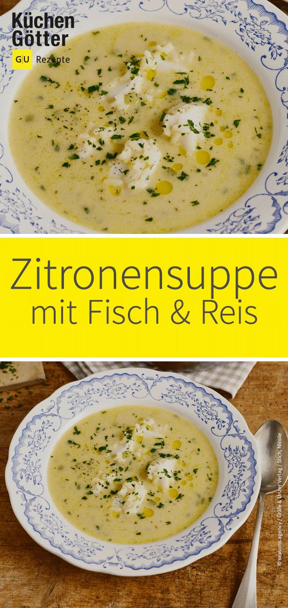 Fisch-Reis-Zitronensuppe #seafoodstew