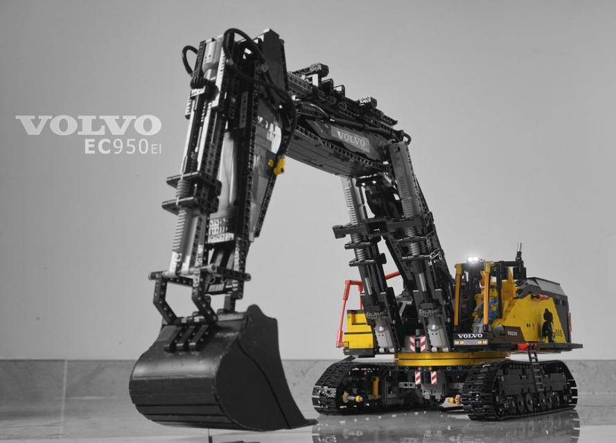 Lego Technic Volvo Ec950el Excavator Remote Control Lego Cranes