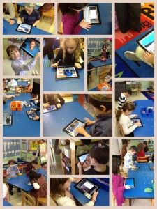 finding nouns in our classroom and using pic collage to document them