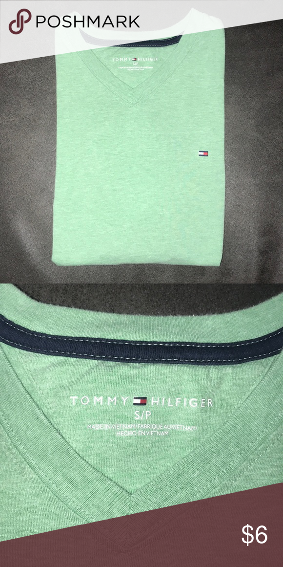 Plain T Shirt Plain Tshirt Tommy Hilfiger Shirts Green Tshirt