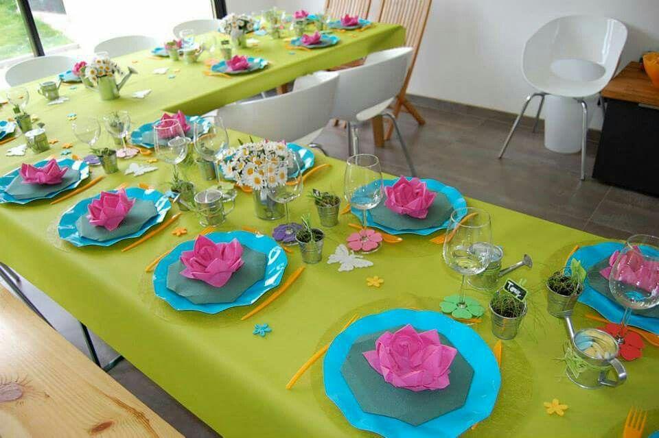 décoration de table de baptême thème jardin   Mes décorations de ...