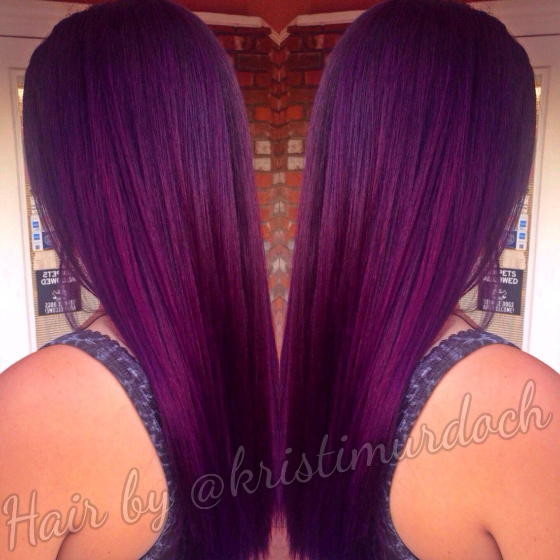 Picture of black and magenta balayage hair - Purple Hair Violet Hair Purple Ombre Purple Balayage Violet Ombre Aveda