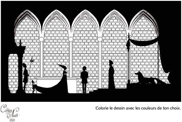 Coloriage contes de la nuit michel ocelot silhouette for Portent xword