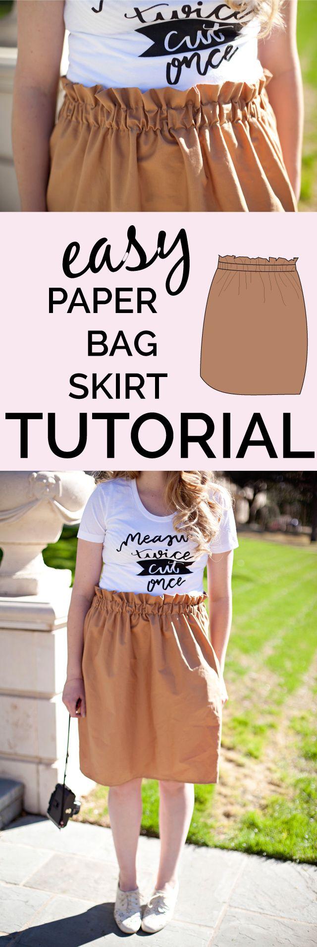 paper bag skirt tutorial | Pinterest | Mädchen rock, Nähen für ...