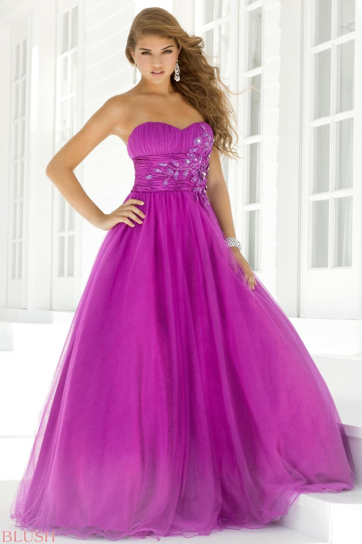 Ball Gowns - Pink by Blush Prom Pink Style 5108 | Bride Maids ...