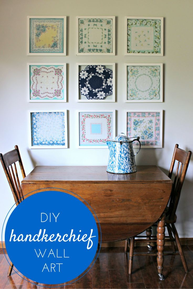 Diy Handkerchief Wall Art Cleverly Simple Handkerchief Crafts Home Crafts Home Diy