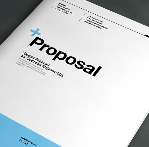 Proposal Template Suisse Design With Invoice On Behance  Top
