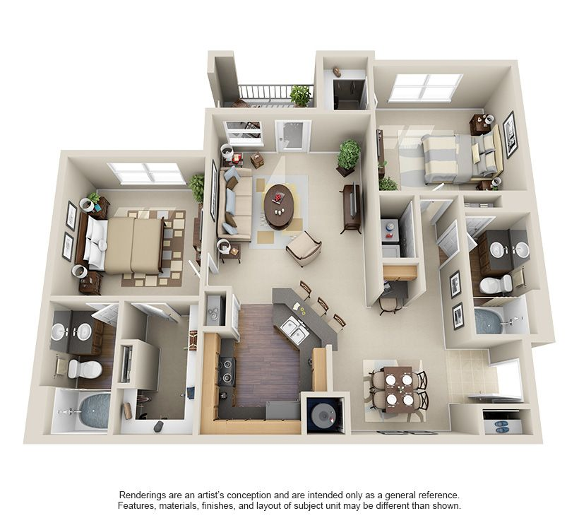 1 2 And 3 Bedroom Apartments In Willowbrook Houston Tx Houston Texas Apartment Ste Apartment Layout House Layout Plans 2 Bedroom Apartment Floor Plan