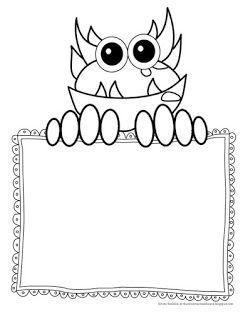 The Creative Chalkboard: Day 2 {Freebie} Monster Writing
