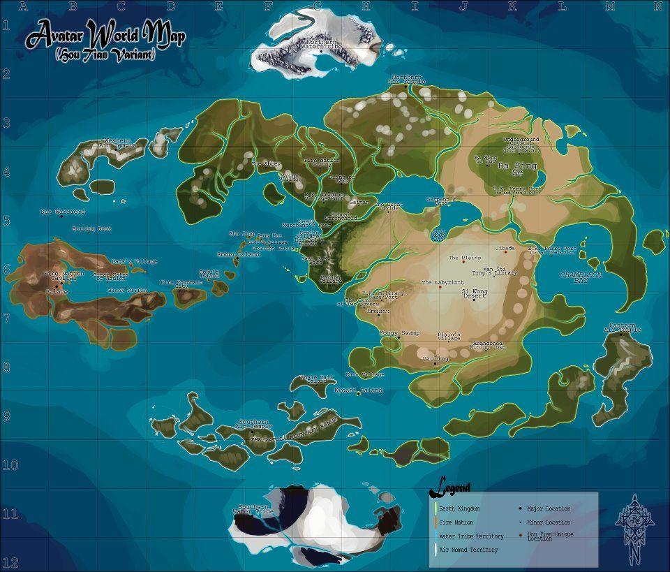 Avatar World Map Avatar World Avatar The Last Airbender The Last Airbender