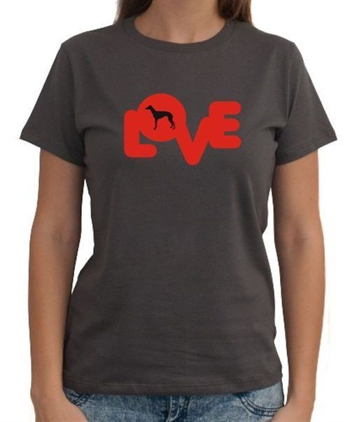 Love Silhouette Greyhound Women T-Shirt