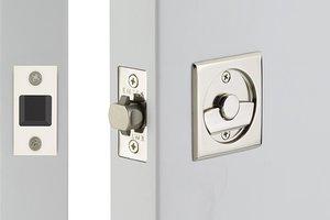 Emtek 2135 Square Tubular Privacy Pocket Door Lock In 2020 Pocket Door Lock Pocket Doors Emtek