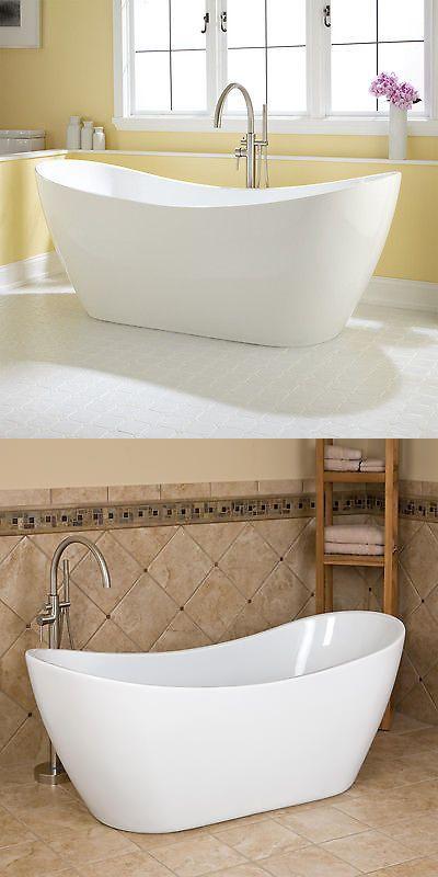 Bathtubs 42025: Signature Hardware 72 Sheba Acrylic Double Slipper ...