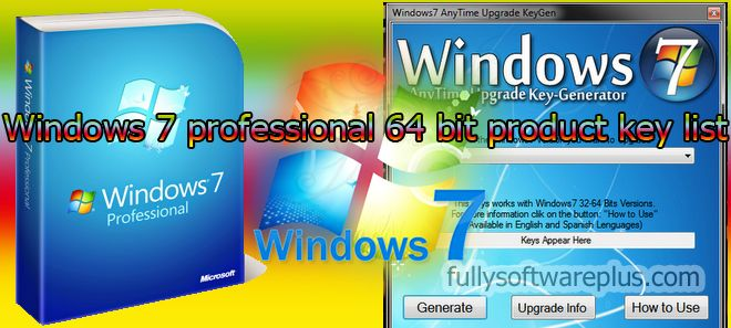 anytime upgrade windows 7 professional 64 bits serial