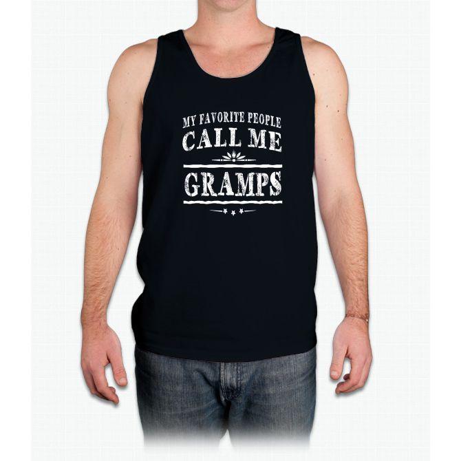 My Favorite People Call Me Gramps Grandpa Gift Men T-shirt - Mens Tank Top