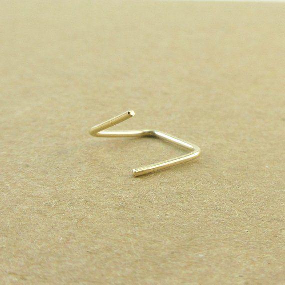 d98cdcb58 Square Cartilage Hoop Earring, 14K Gold Filled, Mini Square Hoop, Helix  Earring, Ear Hugging Hoop, R