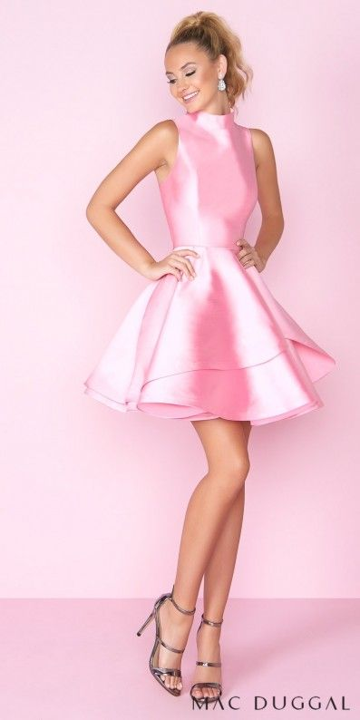 Fun and flirty the Sleeveless High Neck Keyhole Open Back Tiered ...